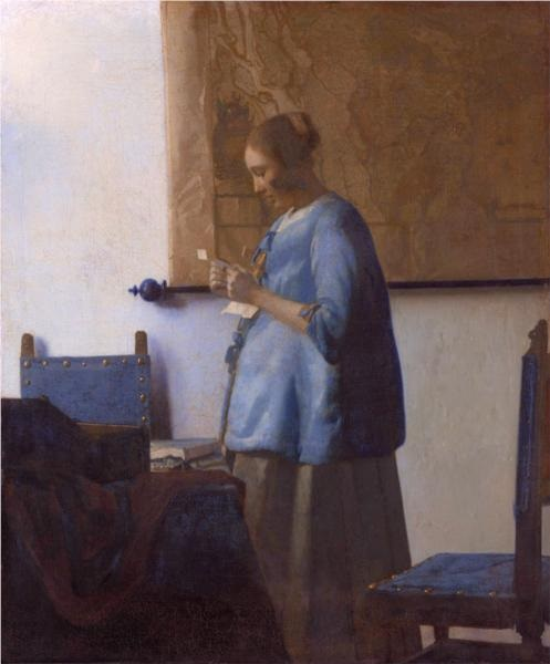 vermeer Woman reading a letter free