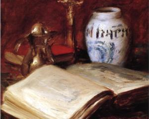 William Merritt Chase, the-old-book