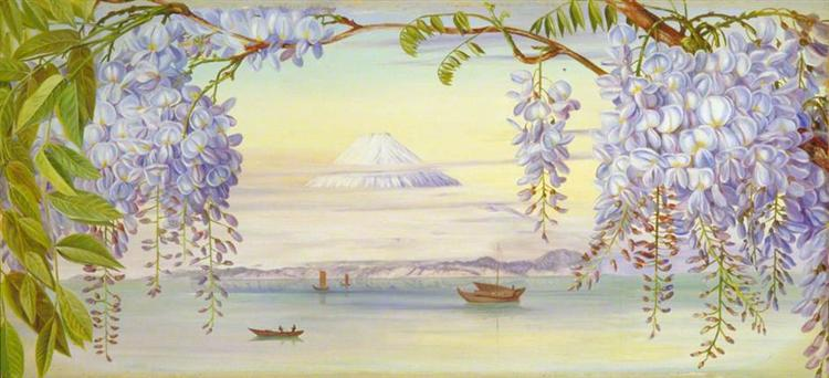 marianne north, distant-view-of-mount-fujiyama-japan-and-wistaria-1876